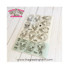 CHEEKY REBOOT KIT The Greeting Farm Photopolymer Clear Stamp Stamping Craft Girl