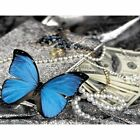 Blue Butterfly Diamond Painting Money And Accessories Design Portrait Decoration