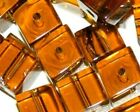 100 1000 4mm CUBE SQUARE CRYSTAL GLASS BEADS lot black blue green amber purple