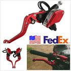 2 Pcs Red CNC Motorcycles Hydraulic Brake Master Cylinder&Clutch Lever US Stock