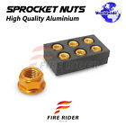 Wheel Sprocket Nuts M10 For Yamaha FZ6 Fazer S2 2007-2009 FZ1 Fazer ABS