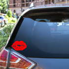 Kiss Mark Lips Car Vinyl Sticker Decal Sexy Hot Window Bumper Laptop Decor