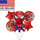 Spiderman Foil Balloons for Boy Girl Kids Birthday Party Decoration 5pcs