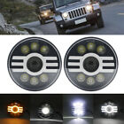 7 Inch 60W LED Projector Round Headlight with DRL for Jeep Wrangler JK TJ LJ CJ