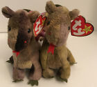 """TY Beanie Baby Lot Of 2 His & Hers """"Scorch the Dragons"""" Vintage 1998"""