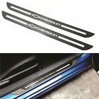 2PCS Carbon Fiber Car Front Door Welcome Plate Sill Scuff Cover For CHEVROLET