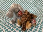 TY Beanie Babies: GIGANTO the Mammoth & TOOTOOT the Elephant- W/ Mint Tags!