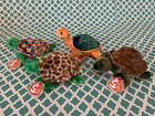 TY Beanie Baby Turtles: TORTUGA, SPEEDSTER, PEAKABOO & ZOOM - All w/ Mint Tags!