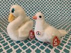 TY Beanie Babies: SERENITY the White Dove & GODDESS the Swan - W/ Mint Tags!