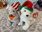 Ty Beanie Babies Of The Month Exclusives: FLICKER the MOUSE & TINSEL the Dog!
