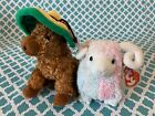 TY Beanie Babies: BAM the RAM & SIESTA the DONKEY (Internet Exclusive)! MWMT!