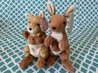 TY Beanie Babies: POUCH & WILLOUGHBY the KANGAROOS! MWMT!