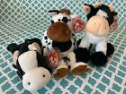TY Beanie Babies: DAISY, MOOOSLY & TIPSY the COWS! MWMT!