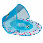 SwimWays Inflatable Infant Baby Swimming Pool Float w Canopy Mickey Mouse