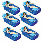 Swimline Solstice Swimming Pool Inflatable Float Cooler Couch Lounge 6 Pack