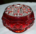 MINTY VINTAGE INDIANA GLASS, VIKING RUBY RED AMBERINA FLOWER FROG