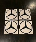 4x Mercedes Benz Decals Many Color Options Mercedes Stickers 3.5 Round