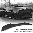 For 2011 18 Dodge Charger Hellcat Style Matte Black ABS Rear Trunk Spoiler Wing
