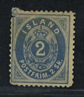 CKStamps Iceland Stamps Collection Scott1 Unused NG Tear Tiny Thin