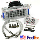One Set Aluminum Motorcycle Scooters Engine Oil Cooler Radiator High Performance