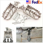 USA Stock 1 Pair Silver Left&Right Stainless Steel Foot Pegs Forefoot Pedals 8MM