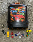 Hot Wheels 100 Car Carrying Case Box Storage Kids With Extra Cars Clean 8 Cars
