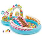 Intex 9ft x 6ft x 51in Kids Inflatable Candy Zone Play Center Pool w Waterslide