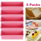 5x Baking Silicone Soap Mold Loaf Toast DIY Tools Processing Rectangle Cake Cold