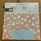 Authentique COZY Collection Kit Winter Themed 12x12 Scrapbooking Paper Stickers