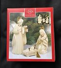 Lenox Nativity Holiday Holy Family ORNAMENTS Set 3 Mary Joseph Jesus New In Box