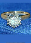2CT Brilliant Round Cut Diamond Solitaire Engagement Ring 14K Yellow Gold Finish