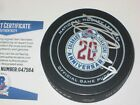 NATHAN MacKINNON Signed AVALANCHE 20th ANNIV. Official GAME Puck w Beckett COA