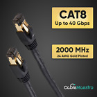 CAT8 Ethernet Cable Cord Patch Copper 24AWG SFTP Shielded RJ 45 05 75FT Lot