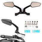 Universal for 8 10mm Motorcycle Bike Scooter Moped Custom Rearview Side Mirrors