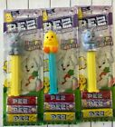 Lot of 3 Easter Pez dispensers carded  2 x bunny and a chick