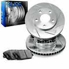 For Suzuki Geo Sidekick Tracker Front Slotted Brake Rotors+Ceramic Brake Pads