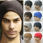 Unisex Mens Stretch Jersey Beanie Hats Slouchy Baggy Hip Hop Casual Winter Caps