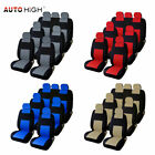 Universal 3 Row 7 Auto Car Seat Front Rear Headrest Row Full Set Covers For Suv