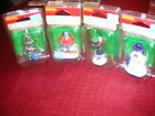 NEW 4 Pc LEMAX Lady & Tree Snowboarder Snowman Tree Christmas Holiday Village
