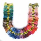 24-200X Skeins Multi Color Cotton Cross Stitch Egyptian Embroidery Floss Threads