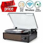 Record Player Turntable Wireless Portable LP Phonograph Built in Stereo Speakers