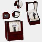 Single Watch Winder Automatic Rotation Wood Display Case Storage Organizer
