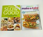 Set 2 Weight Watchers Books Make  Take Meals and Slow Good Slow Cooker Recipes