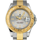 Rolex 168623 Y Ladies Yachtmaster 35mm Silver Dial Steel & Gold Boxes Automatic