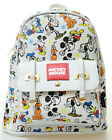 Disneys Mickey Mouse 11 Faux Leather Mini Backpack Purse Small Allover Print