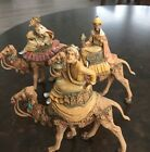 Fontanini Depose Italy 6 1 2 3 Wise Men on Camels Vtg Kings Christmas Nativity