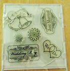 Just Married 6 Piece Acrylic Stamp Set