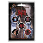 DEATH Albums OFFICIAL BUTTON BADGE SET OBITUARY POSSESSED CYNIC CONTROL DENIED