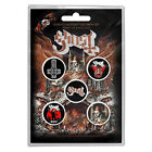 GHOST Prequelle OFFICIAL BUTTON BADGE SET MASTODON OPETH MERCYFUL FATE METALLICA