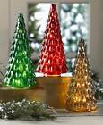 VINTAGE LOOK LED LIGHTED RED GREEN or GOLD CRACKLED MERCURY GLASS CHRISTMAS TREE